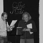 Andrea Garbin e Jack Hirschman al  Caffè Modì di Mantova