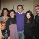 03 - Luca Artioli e Andrea Garbin con le poetesse Manuela Dago e Odilia Liuzzi al Galeter il 07-03-2009