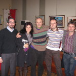 da sx - Luca Artioli - Pamela Amighini - Jack Hirschman - Andrea Garbin - Massimo Baraldi