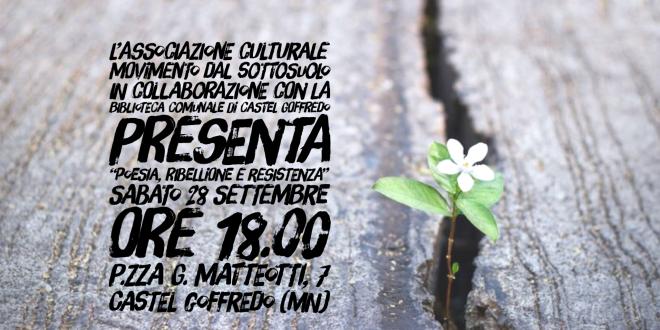 POESIA, RIBELLIONE E RESISTENZA – Poeti per il cambiamento – 28/09/2019