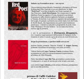 La poesia prigioniera nel mondo – 24 novembre 2012